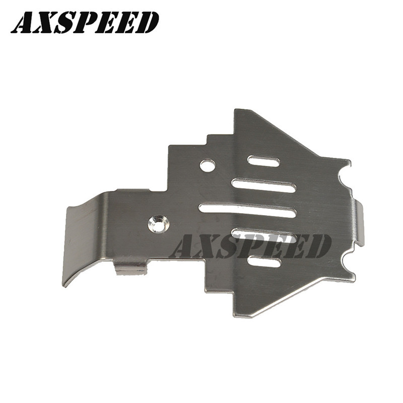 1x Stainless Steel Chassis Protective Skid Plate for 1//10 RC Crawler Trx-4
