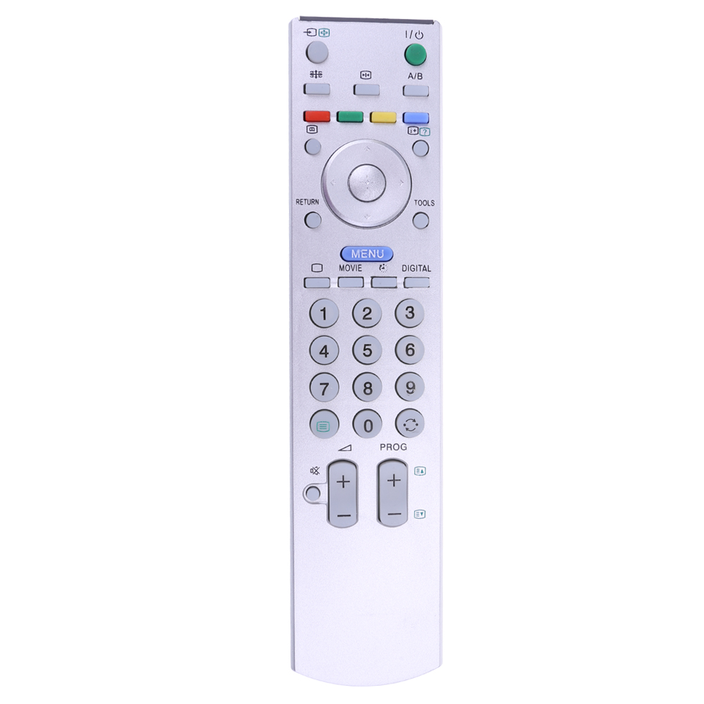 Universal TV Remote Control Replacement Television Remote Control Unit White All Functions for SONY RMED008