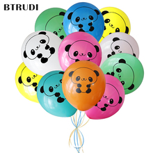 BTRUDI Candy panda print cartoon balloon 30pcs/lot 12inch 2.8g  party birthday decoration balloons Childrens age kids toy