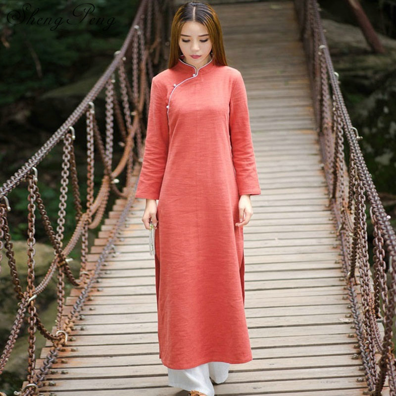 Traditional chinese clothing oriental robe ao dai dress chinese oriental dress chinese dress for women oriental