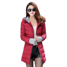 2017 New Winter Female Women's Down Jacket Cotton Jacket Wadded Clothing Slim Plus Size M-XXXL Parkas Ladies Coats