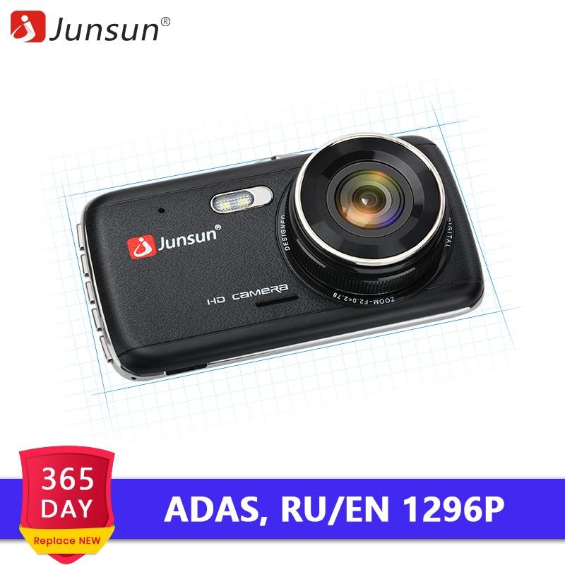 Junsun Car DVR Cam-Camera Voice-Alarm LDWS Auto-Registrator Dual-Lens Dash 1296P Night-Version