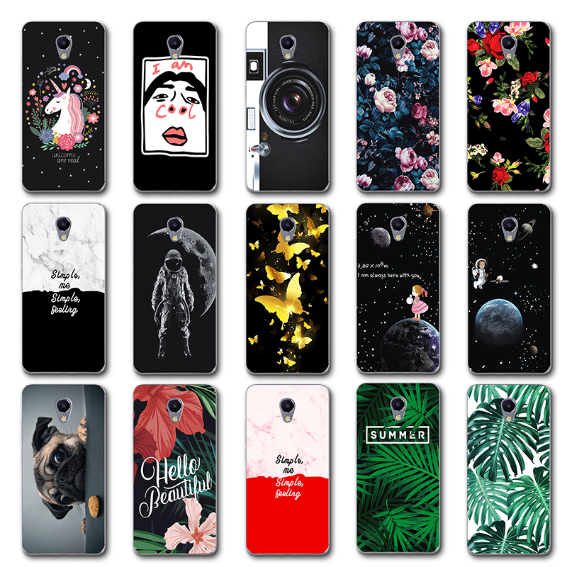Newest Fashion Lovers Phone Case Capa For Meizu M5C Chic Leaves Back Cover For For