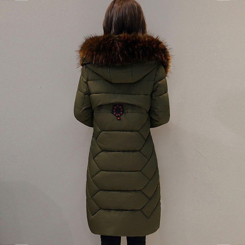 Mode Mince Nouveau caramel Capuchon De Army Long Col Hiver Green black Survêtement Épais Manteau À 2018 Femmes Coton Parkas Grande Chaud Taille Vestes X773 Fourrure Femelle Colour Xa4vAwOq