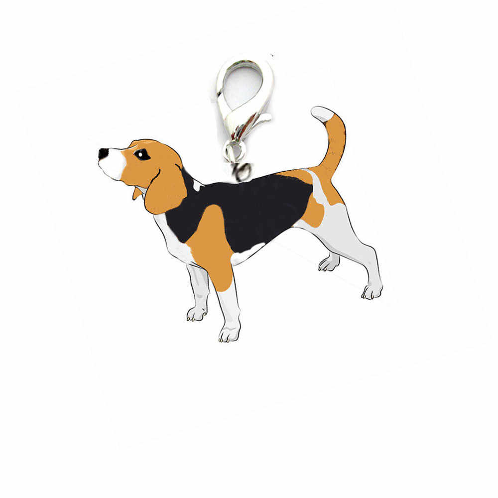 New Qualificato Dog Tag Disco Disco Beagle Pet ID Smalto Accessori Della Collana Del Collare Del Pendente Levert Dropship dig671