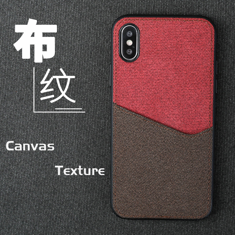 Canvas Phone Case For Xiaomi Mi 6 8 SE 8 Explorer 6X A2 Mix 2S Max 3 Soft TPU Edge Color Stitching Card Slot Design Back Cover