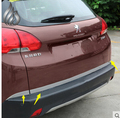 3 pcs High quality Car rear truck box Stainless steel Exterior parts trim  for Peugeot 2008 accessoreis
