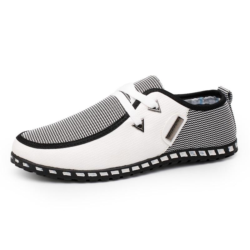 Mixed Color Fashion Men Shoes Comfortable Casual Shoes Breathable Lace-Up Canvas Shoes fashion men s canvas shoes with solid color and lace up design