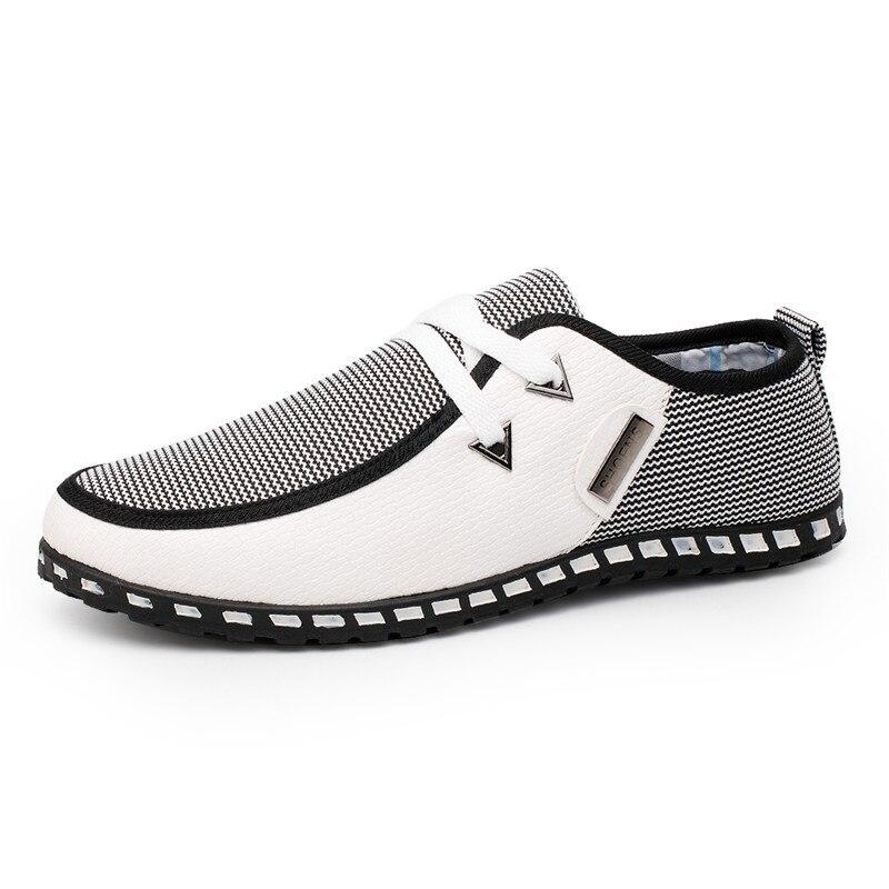 Mixed Color Fashion Men Shoes Comfortable Casual Shoes Breathable Lace-Up Canvas Shoes