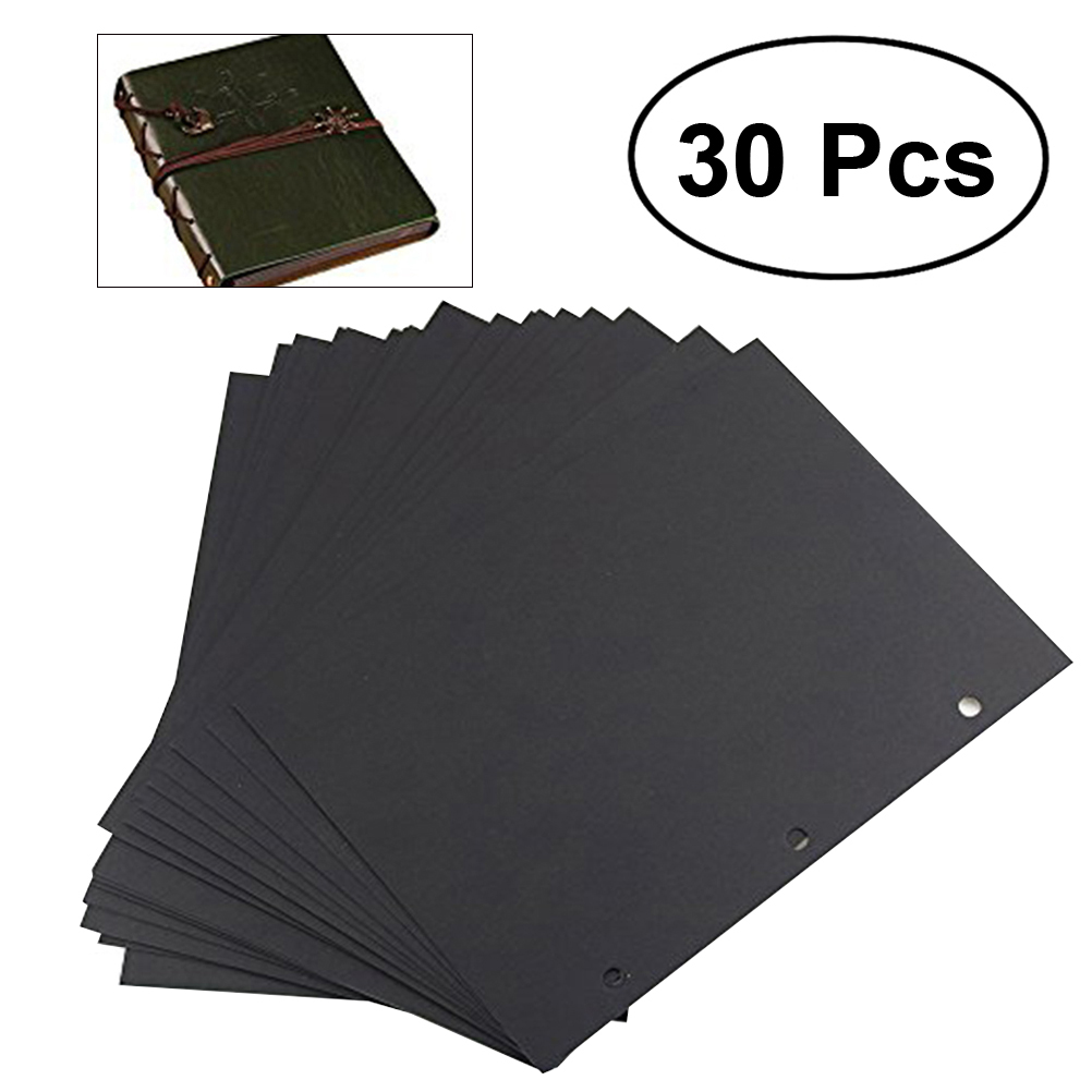 30 Sheets 15.3 * 20CM Scrapbook <font><b>Album</b></font> Refill Pages Black Scrapbook Paper for <font><b>Scrapbooking</b></font> image