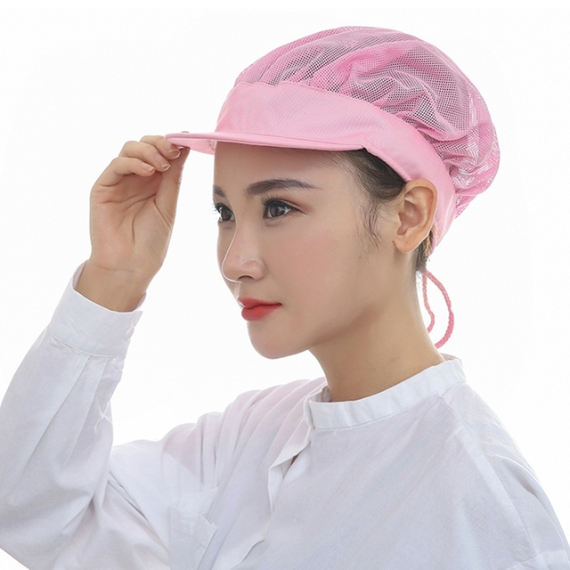 Kitchen Hats Blue Sink Summer Restaurant Accessories Catering Hat Food Service Hospital Cleaner Mesh Working Cap