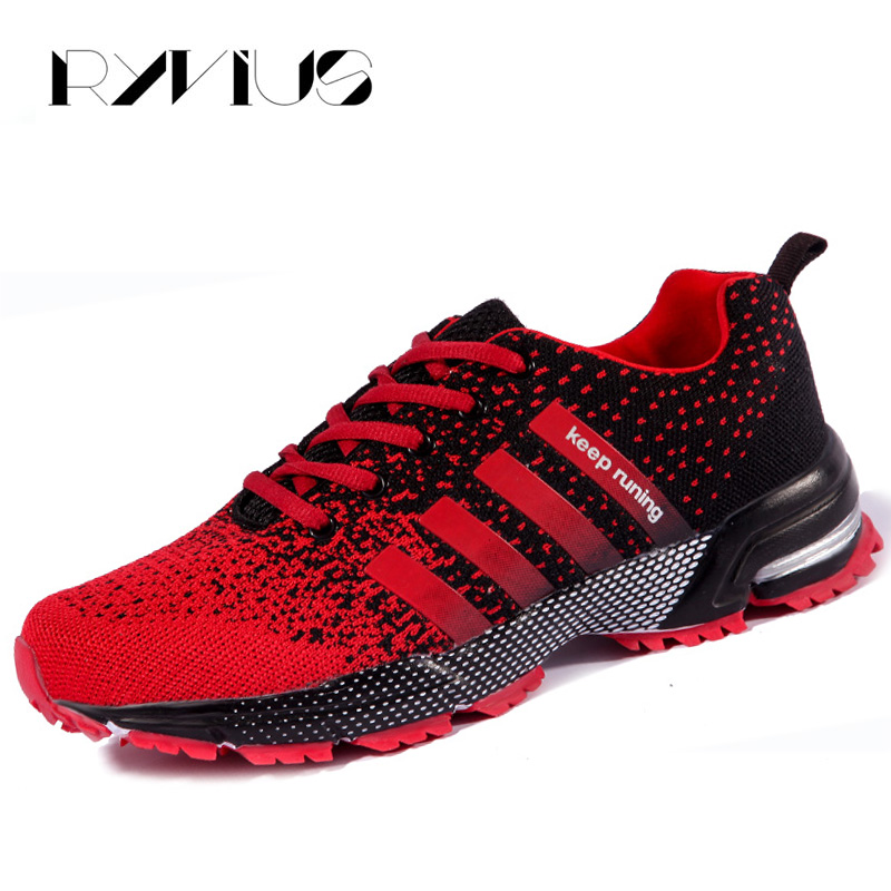 the latest e9881 a42b2 US $17.65 32% OFF|Ryvius Big Size 35 46 Keep Running Shoes Men Sport  Cushion Sneakers Jogging Women Outdoor Athletic Air Mesh Breathable  Walking-in ...