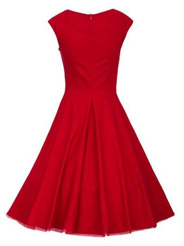 9085a1454a96c Mujeres vestido estilo Audrey Hepburn Dress1950s 40 s 60 s 80 s Vintage  Retro Rockabilly cóctel vestidos vestido rojo negro en Vestidos de La ropa  de las ...