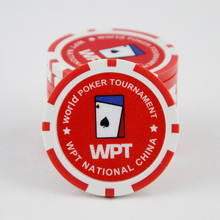 INSTOCK 10 PCS/LOT WPT Poker Chips High Quality 12g Iron/ABS Cool Poker Chips Casino Chip Insert Metal