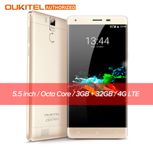 Oukitel K6000 Pro Moblie Phone Android 6 0 6000mAh 4G Phablet 5 5 Screen MTK6753 64bit