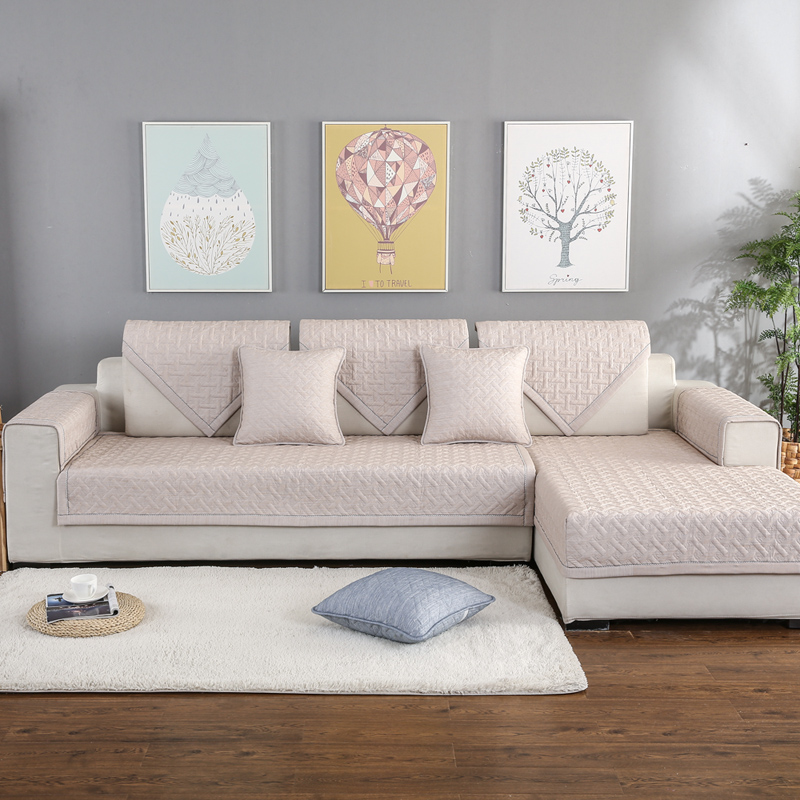 Solid Sofa Cover For Living Room Pet Dog Mat Removable Multi-size Corner Sofa Towel For Sectional Sofa Slipcover