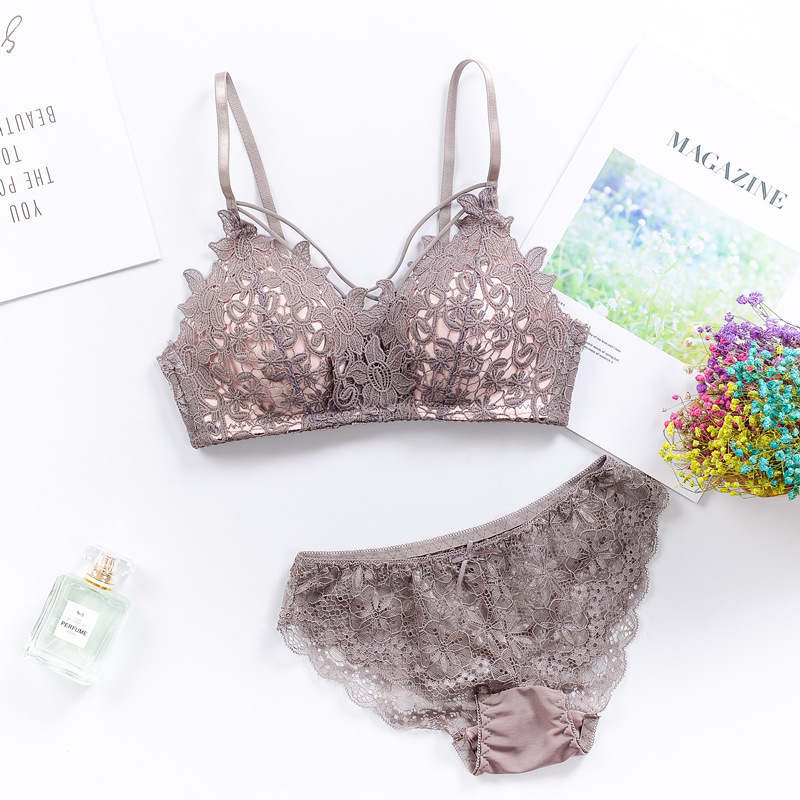 IEMUH Sexy Bikinis Solid Push Up Bikini 2019 Hot Sale Padded Bra Straps Mid Waist Swimsuit Swimwear Women lace Biquini