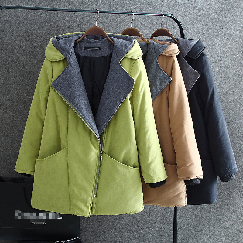 ФОТО 2015 Winter Large Size Cotton Long Wide-waisted Thick Women Coat Plus Size 4XL  Warm Winter Clothes