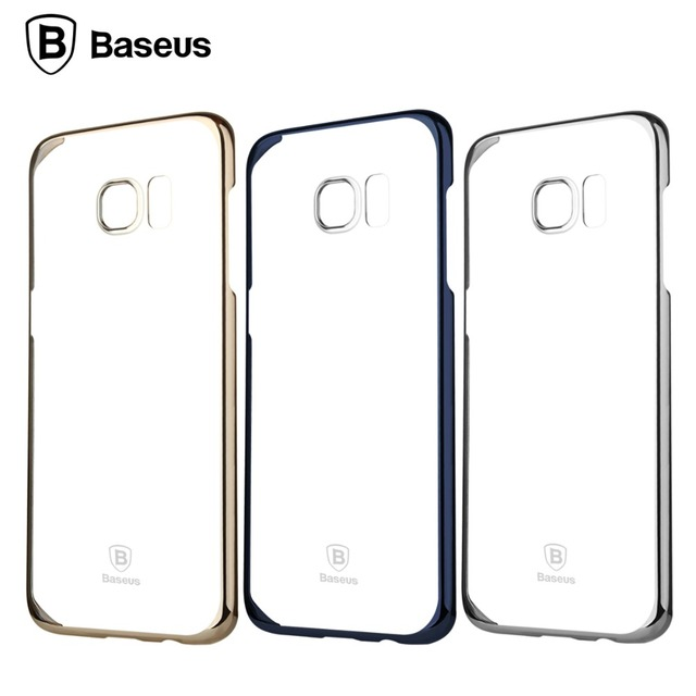 Baseus Ultra Thin Clear Crystal Rubber Plating Electroplating Mobile Phone Case For SAMSUNG Galaxy S7 edge shell Cover