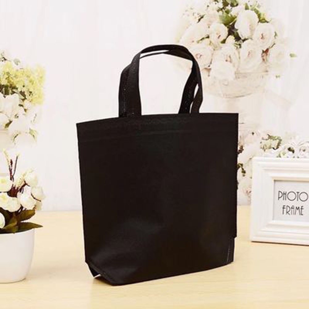 Nonwoven Grocery Foldable Casual Shopping Bag 1 pc Storage Reusable Eco Tote Bag Handbag  Shopping Bag Four Colors