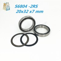 Free Shipping 20x32 x7 mm Hybrid Ceramic Yellow Seal Nylon Cage BIKE BEARING S6804 61804 A5