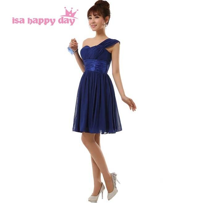 Azul real de la gasa tamaño personalizado moderno niñas bridesmade ...