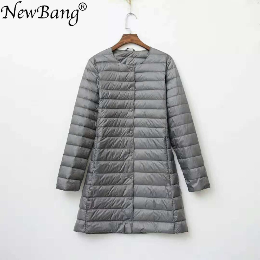 NewBang Brand Ladies Coats Ultra Light Down Jacket Women Long Duck Down Jacket Female Lightweight Warm Linner Slim Portable