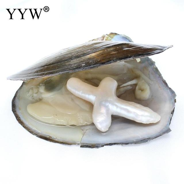 YYW Vacuum Pack Big Cross Oyster Pearl Freshwater 25mm Pearls Christian Gift Hot Sale Fashion