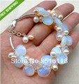 Exquisite Moonstone Fresh Water Pearl bracelet,Crystal