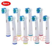 Têtes de brosse à dents de rechange 8x, pour brosse à dents électrique oral-b, pour Advance Power/Pro Health/Triumph/3D Excel/vitalité, précision propre