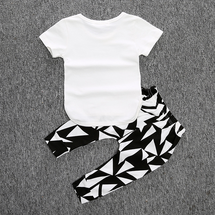 4df39a9f3ef0 2017 ins fashion baby boys and girls little dude letter t shirt+pant ...