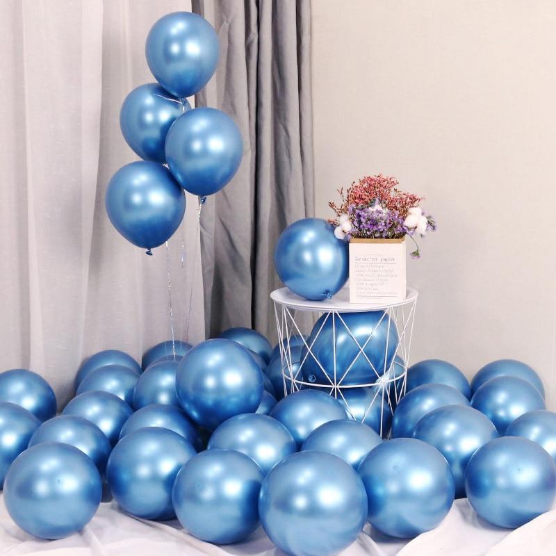 10 piezas 12 pulgadas globo metálico mi primer Feliz cumpleaños dulce fiesta decoración bebé niños adultos niño niña 1 er año garland suministros