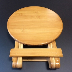 Image 4 - High quality Bamboo made Small Bench Portable Fishing Stool Wood Folding Stool Cheap and Good Home Furniture