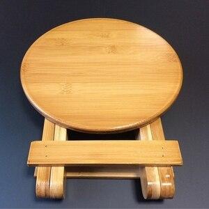 Image 4 - Wysokiej jakości bambusowa mała ławka przenośna taboret do wędkowania składany stołek drewniany tani i dobry dom umeblowanie