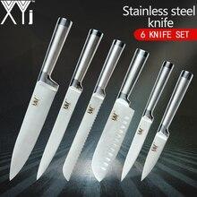 XYj Kitchen Knives Paring Utility Santoku Chef Slicing Bread