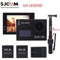 """Original SJCAM SJ6 LENDA 4 K 2.0 """"Touch Screen Câmera de Ação de Esportes Sj DVR + 2 Bateria + Dual carregador + 3 M Remoto À Prova D' Água Monopé"""