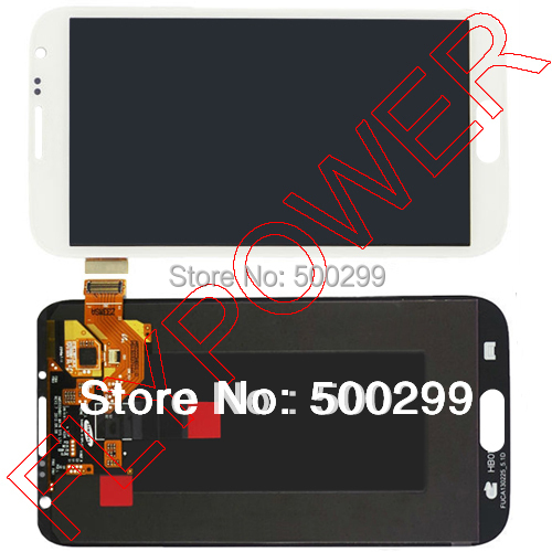 For Samsung Galaxy Note 2 N7100 lcd screen with touch screen digitizer assembly by free shipping; White color; 100% warranty brand new3 n7100 lcd free shipping 10pcs n7100 lcd touch sceen digitizer assembly for samsung galaxy note 2 lcd