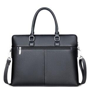 Image 5 - Bolso de mano de trabajo negro para hombre, cartera para documentos, ordenador portátil, bolso de mano, A4, Partfel, 2020