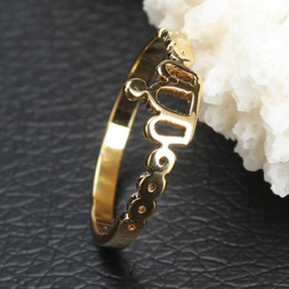 Crown Rings Fashion Jewelry For Women Gold Color Anillos For Wedding Engagement HOT Sale 2018
