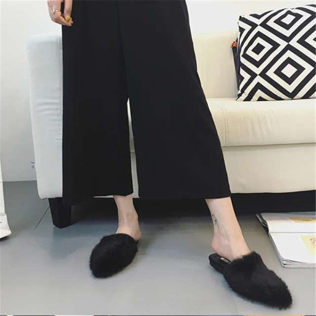 557723dd9879 Sandals women s shoes single shoes 2016 autumn female half-slippers flat  pointed toe casual slippers