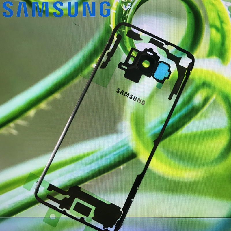 Transparent Back Glass For SAMSUNG Galaxy S8 G950 G950F Display S8 Plus G955 G955F Battery Cover Housing With Camera Lens