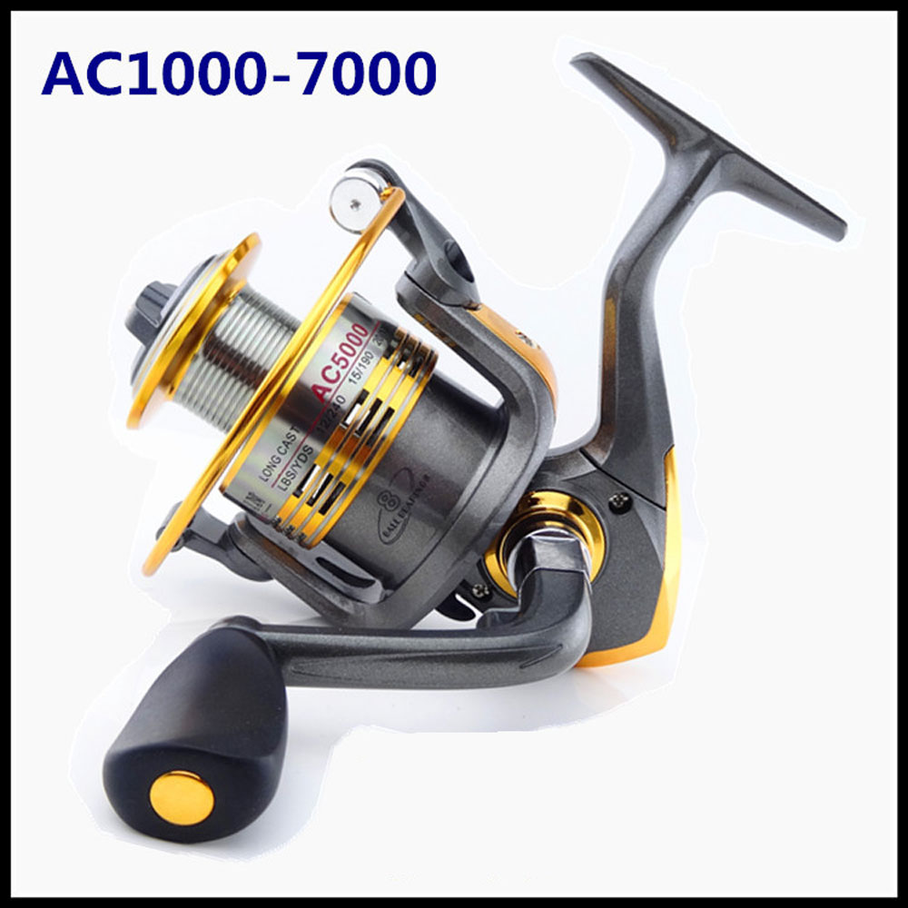 100% Original Brand AC Front Drag Spinning Fishing Reel Freshwater Feeder Carp Fishing Wheel Folding crank