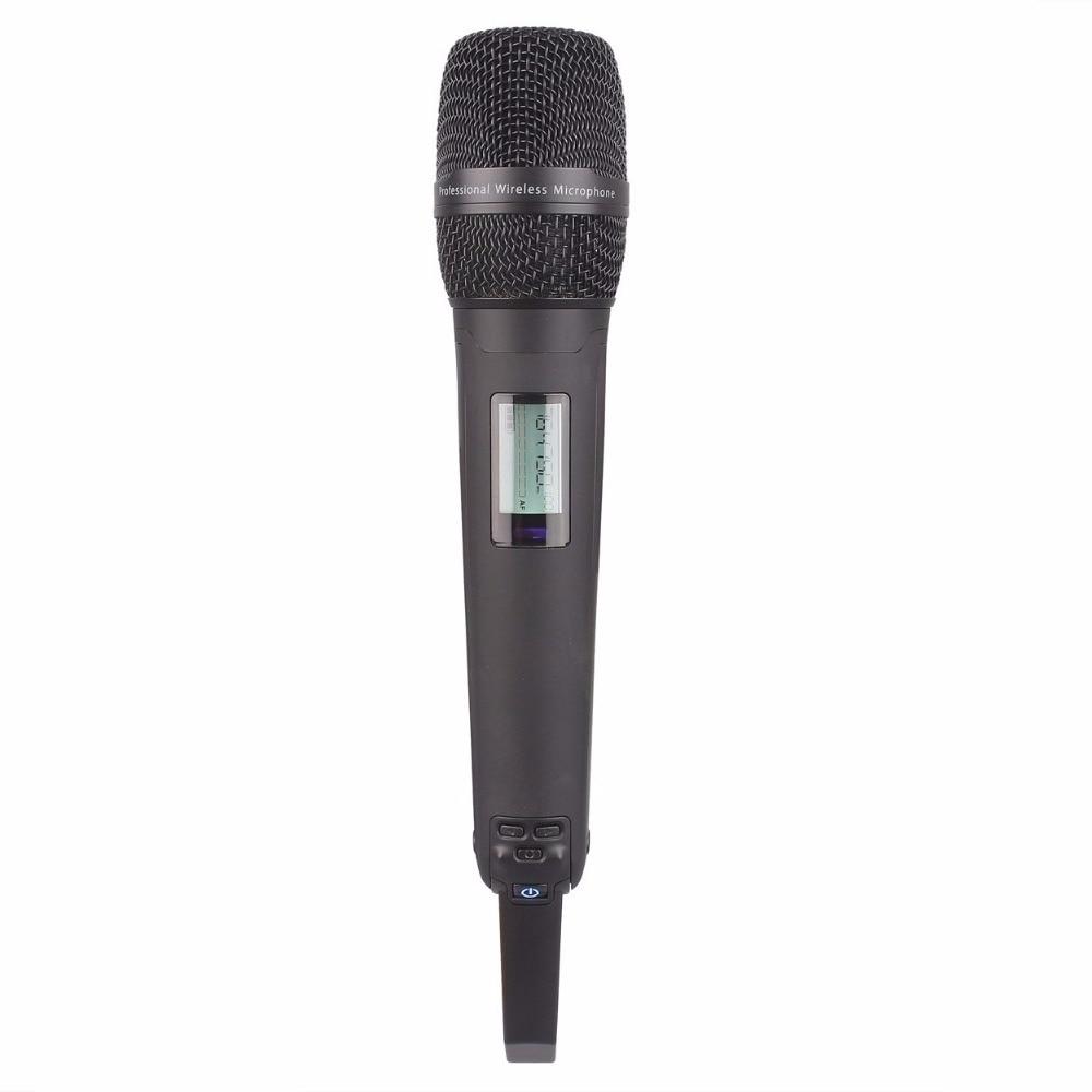 Micrófono de mano negro para sistema inalámbrico 4300-in micrófonos from Productos electrónicos    1