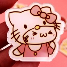 51ca657a5 1PCS Hello kitty Acrylic Brooch Badges Decoration pins girls boys Backpack  Clothes Decorative Brooch Fashion Broche Kids gift