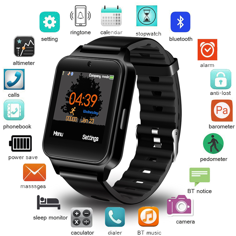 BANGWEI Men Women Smart Watch WristWatch Support With Camera Bluetooth SIM TF Card Smartwatch For Android Phone Couple Watch+BoxBANGWEI Men Women Smart Watch WristWatch Support With Camera Bluetooth SIM TF Card Smartwatch For Android Phone Couple Watch+Box