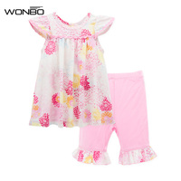 Baby Girl Clothes Set Soft Fashion Summer 2pcs Suit Christmas Newborn Girl Clothes Birthday Outfit