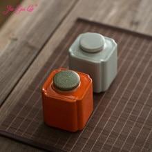 цена на JIA-GUI LUO Ceramic Tea Box Portable Tea Set Accessories Pu'er Dried Fruit Coffee Collection Sealed Cans  Tea Storage Box D125
