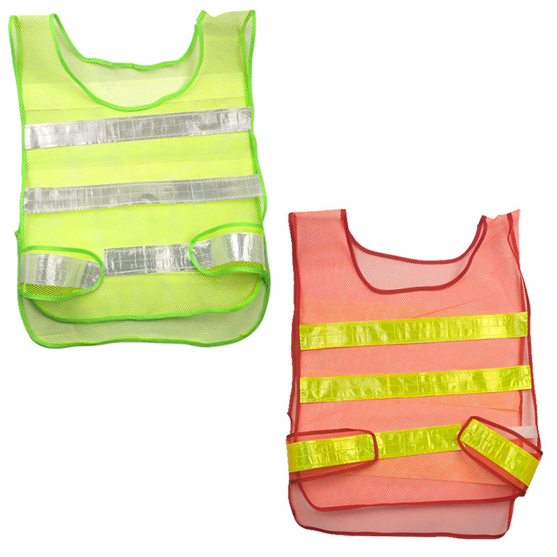 1pcs Reflective Vest Safety Work Clothes High Visibility Vest Security Coveralls Job Safety Clothing Fluorescent Night Warning цена