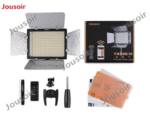 YONGNUO YN300III YN300 III 3200 5500K светодиодный видео свет с 2x NP F550 батареей и зарядным устройством светодиодное освещение камеры CD50