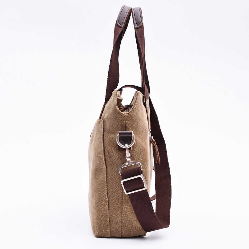 BLD Brand New Canvas Business Briefcase Tote Casual Laptop Bags for Men Fashion Office Handbag Casual Man Shoulder bags
